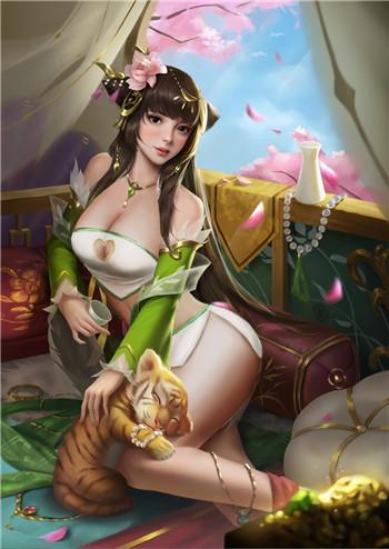 《王者荣耀》伽罗太华不穿衣服无遮挡污图