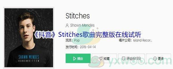 《抖音》Stitches歌曲完整版在线试听入口